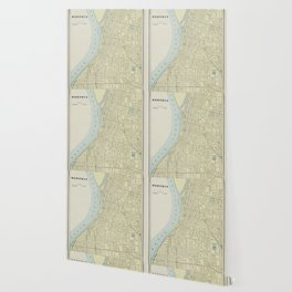 Vintage Map of Memphis Tennessee (1901) Wallpaper