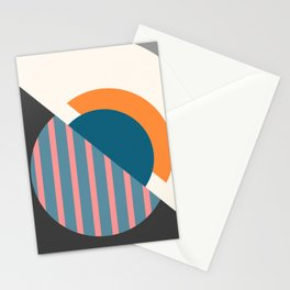 Geometric minimal abstract Stationery Cards