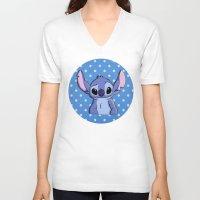 lilo and stitch V-neck T-shirts featuring Lilo and Stitch - Stitch by Julia Kolos