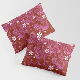 Lesbian Pride Scattered Falling Flowers and Leaves Pillow Sham
