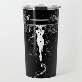 synchroniCity // (nude girl) Travel Mug