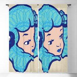 Girl Power Aqua Babe Blackout Curtain
