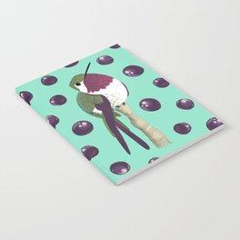 Brazilian Birds & Fruits - Amethyst Woodstar + jabuticaba cherries Notebook
