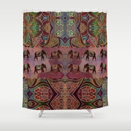 Floral Elephants #2 Shower Curtain