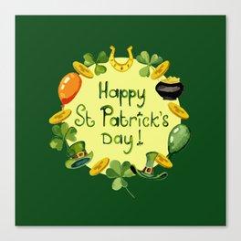 Happy St Patrick`s Day Canvas Print