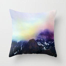 Mountain of Color Fog Throw Pillow