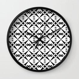 Symmetric patterns 144 Black and white Wall Clock
