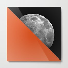 Half Moon Orange Metal Print