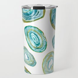 Agate Slices Teal Palette Travel Mug