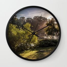 sunrise over ridley park Wall Clock