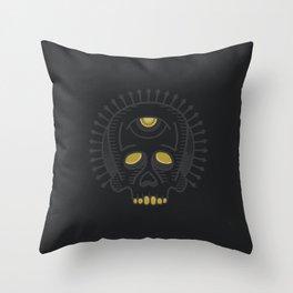 Skull Study - Black Throw Pillow