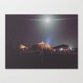 UFOS ON THE BEACH Canvas Print