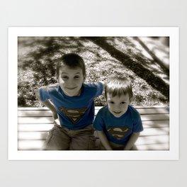 SUPER BOYS!! Art Print