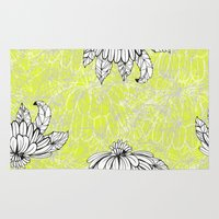 lime green Area & Throw Rugs featuring Lace Dakota | Lime Green by drape of blake
