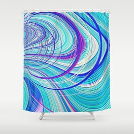 Re-Created  Hurricane 5 by Robert S. Lee Shower Curtain