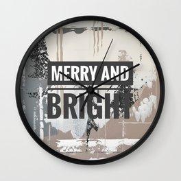 Snowfall - merry and bright Wall Clock