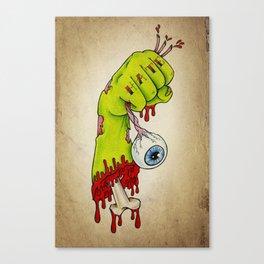 Hate Zombies - Tattoo artwork Canvas Print