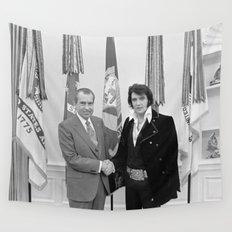 Elvis Meets Nixon Wall Tapestry