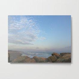 Rocky Ocean Beach Metal Print