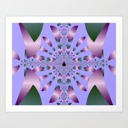 Petals in Lilac Art Print