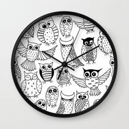 Funny owls Wall Clock