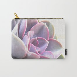 pink succulent plant Carry-All Pouch