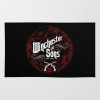 winchester Area & Throw Rugs featuring Winchester & Sons by Manny Peters Art & Design