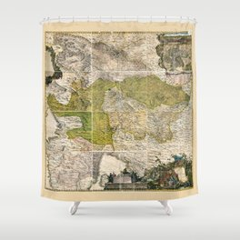 Map of Slovenian Territory (1744) Shower Curtain