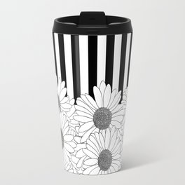 Daisy Stripe Travel Mug