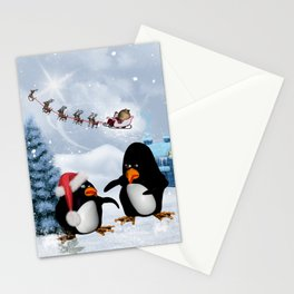 Funny penguin Stationery Cards