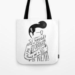 The Smiths lyric print Tote Bag