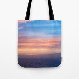 Blue Dreams Sunset - Ocean Sunset, Landscape, Scenery, Beautiful Orange Yellow Tote Bag