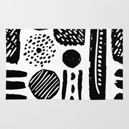 Abstract Hand Drawn Patterns No.3 Rug