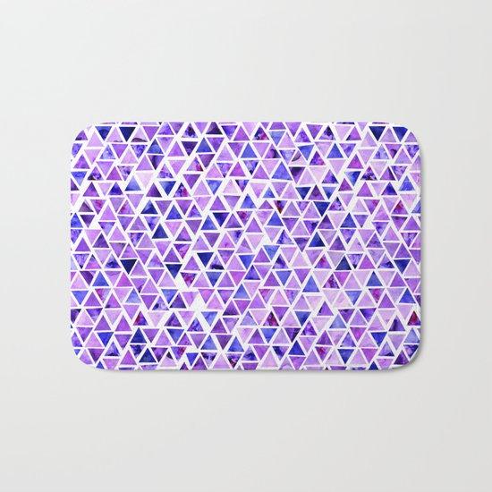 Purple Triangles Pattern 01 Bath Mat