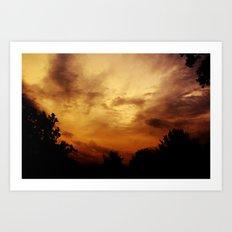 Fire Skies Art Print