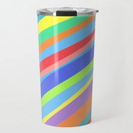 Rainbow Lines Variant 2 Travel Mug