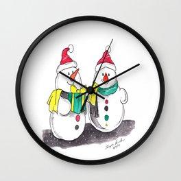 Christmas The Joys of Smiles Wall Clock