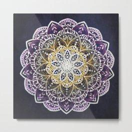 Glowing Mandala Metal Print