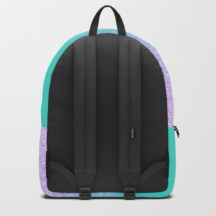 Modern mermaid lavender glitter turquoise ombre pattern Backpack