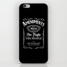 2nd Amendment Whiskey Bottle iPhone & iPod Skin