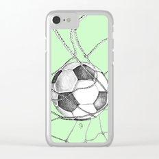 Goal in green Clear iPhone Case