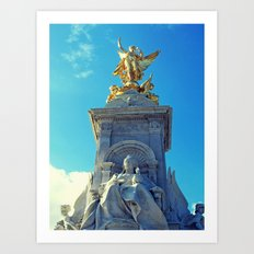 Victoria Memorial, London Art Print