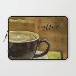 cappuccino coffee textured art Laptop Sleeve