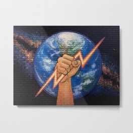 Earth Power (Mural at Battery Land, Gainesville FL Metal Print