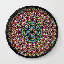 Happy Garden Mandala Wall Clock