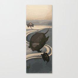 Japan Art, Turtles Canvas Print