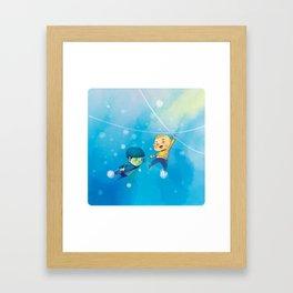 Spirk winter adventure Framed Art Print