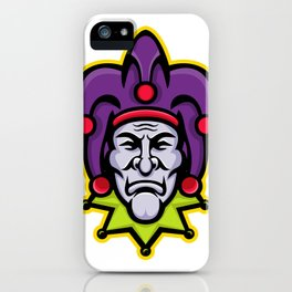 Jester Head Mascot iPhone Case