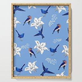 Bluebird ,floral pattern Serving Tray