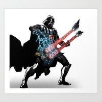 Darth Vader Force Guitar Solo Art Print